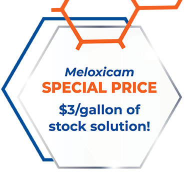 Meloxicam SPECIAL PRICE: $3/gallon of stock solution!